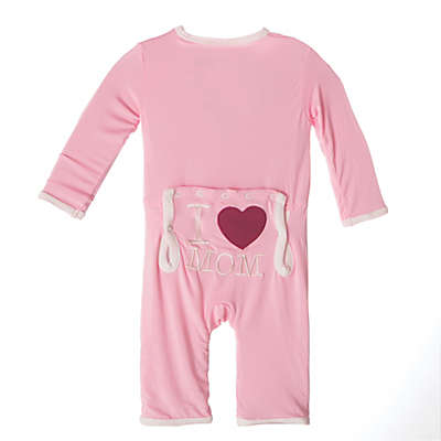 """KicKee Pants® """"I ♥ Mom"""" Coverall in Pink"""