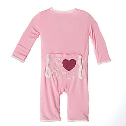 "KicKee Pants® ""I ♥ Mom"" Coverall in Pink"
