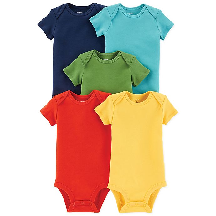 Alternate image 1 for carter's® 5-Pack Short Sleeve Bodysuits