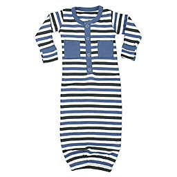 L'ovedbaby® Striped Organic Cotton Gown in Slate
