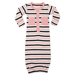 L'ovedbaby® Striped Organic Cotton Gown in Coral