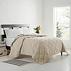 Garment Washed Down Alternative Quilted King Blanket in Dune