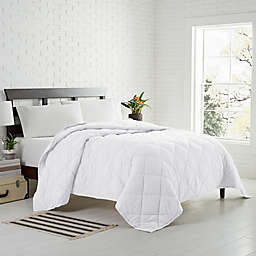 Garment Washed Down Alternative Quilted Twin Blanket in White