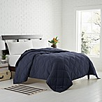 Garment Washed Down Alternative Quilted Full/Queen Blanket in Navy
