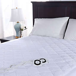 Berkshire Blanket® Intellisense Luxury Heat Mattress Pad in White