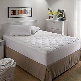 Bedding Essentials Microfiber Mattress Pad in White
