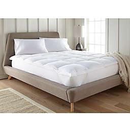 Home Luxury Plush Mattress Pad in White