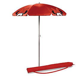 Picnic Time® Minnie Mouse 5.5 Portable Beach Umbrella in Red