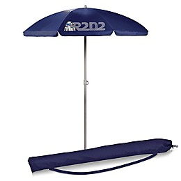 Picnic Time® Star Wars™ R2-D2 5.5-Foot Portable Beach Umbrella in Navy