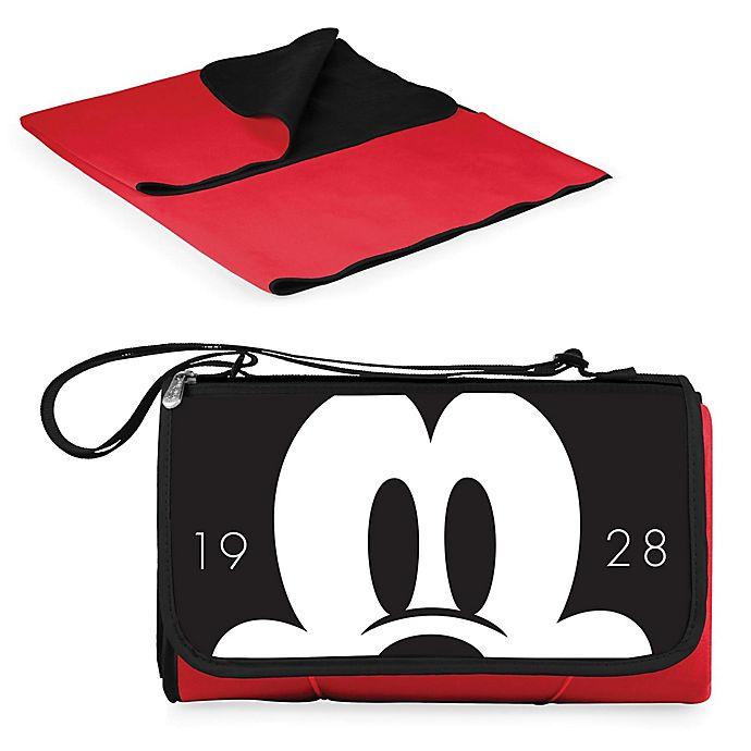 Alternate image 1 for Picnic Time® Disney® Mickey Mouse Outdoor Picnic Blanket in Red