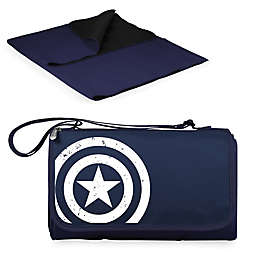 Picnic Time® Marvel® Captain America Outdoor Picnic Blanket in Navy