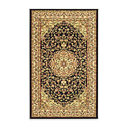 Safavieh Lyndhurst 3-Foot 3-Inch x 5-Foot 3-Inch Rug in Black and Ivory