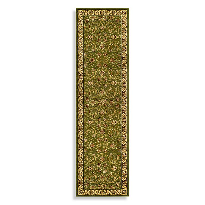 Alternate image 1 for Safavieh Lyndhurst Floral 2'3 x 16' Runner in Sage/Ivory