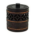 India Ink Anaka Cotton Ball Jar in Bronze