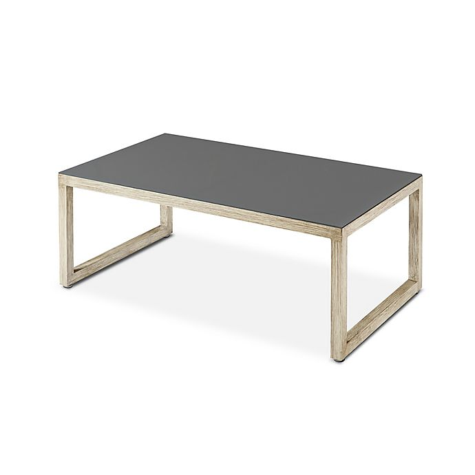 Alternate image 1 for Real Flame Monaco 48-Inch Rectangle All Weather Aluminum Outdoor Table in Antique White