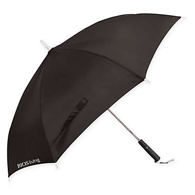 Bios Straight Umbrella with LED Lights in Black