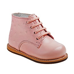 Leather Walking Shoe in Peach