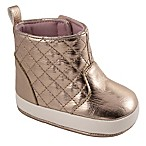 Wee Kids Size 9-12M Quilted Shaft Boot in Rose Gold