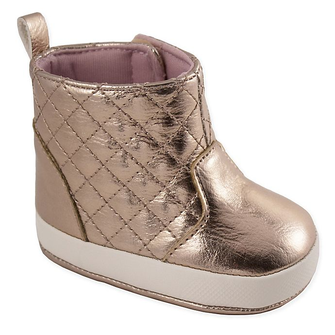 Alternate image 1 for Wee Kids Quilted Shaft Boot in Rose Gold