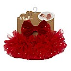 So 'Dorable® 2-Piece Bow Headband and Diaper Cover Set in Red/Silver