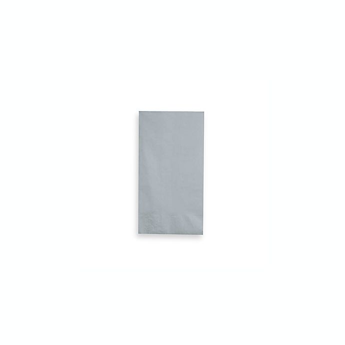 Alternate image 1 for Creative Converting 2-Ply100-Count Guest Towels in Shimmering Silver