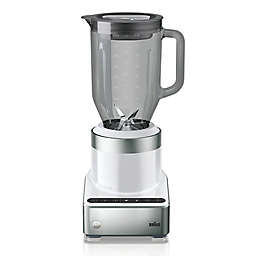Braun PureMix Blender with Thermal-Resistant Glass Jug in White