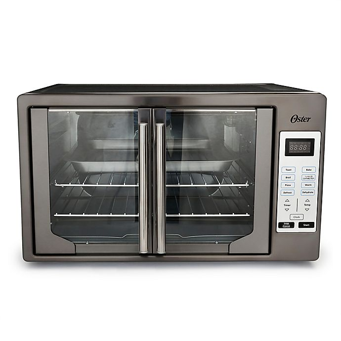 Alternate image 1 for Oster® Stainless Steel Digital French Door Oven in Black Stainless