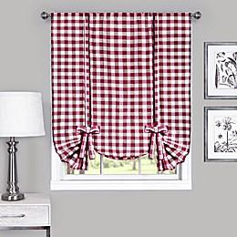 Achim Buffalo Check Rod Pocket Window Curtain Tie Up Shade