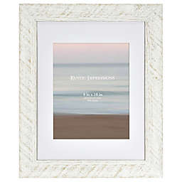 Bee & Willow™ Home 8-Inch x 10-Inch Matted Textured Wood Frame