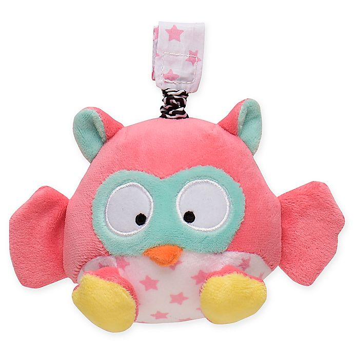 Alternate image 1 for Magic Years® Owl Chime Rattle with Travel Strap in Pink