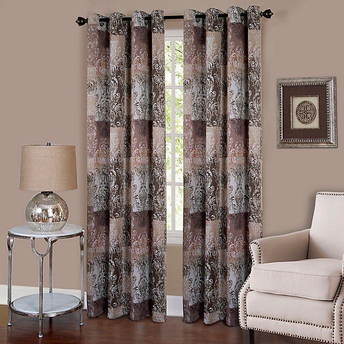Alternate image 1 for Achim Vogue 63-Inch Grommet Top Room-Darkening Window Curtain Panel in Brown