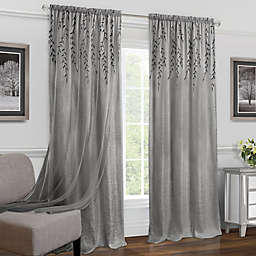 Achim Willow 84-Inch Rod Rocket Window Curtain Panel in Grey