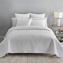 Ted Baker London Quilted Scallop Coverlet in White