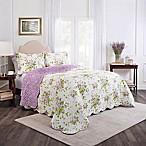 Waverly® Sweet Violets Reversible Queen Bedspread Set in Violet