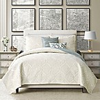 Camber Reversible King Quilt Set in White