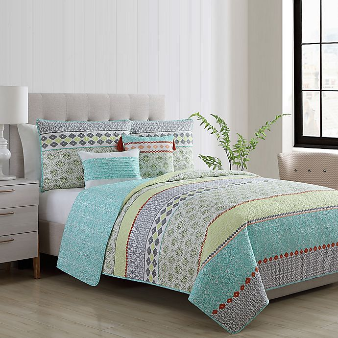 Alternate image 1 for VCNY Home Dharma Reversible Quilt Set