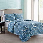 VCNY Home Bradshaw Reversible Quilt Set in Blue/White