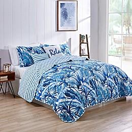 VCNY Home Tropical Leaf Reversible Quilt Set