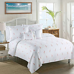 Lamont Home™ Caribbean Flamingo King Coverlet in White