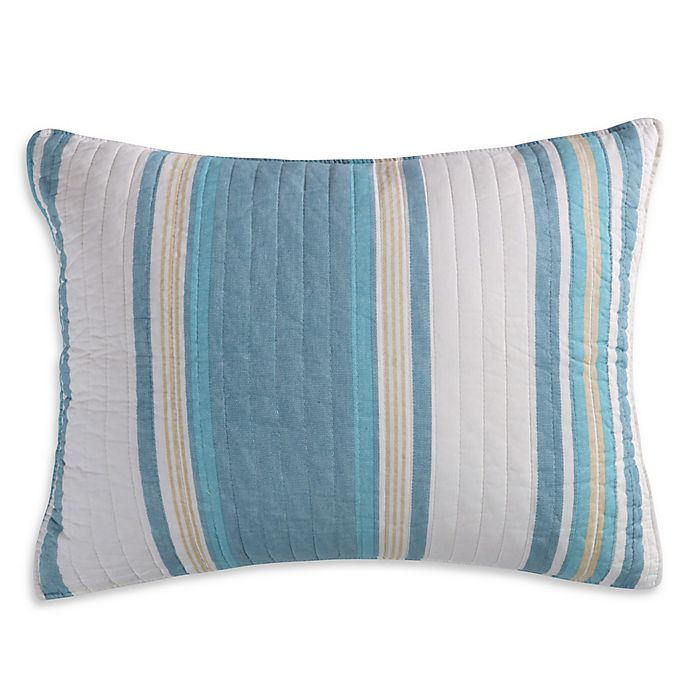 Alternate image 1 for Levtex Home Camarillo Standard Pillow Sham in Blue/Taupe
