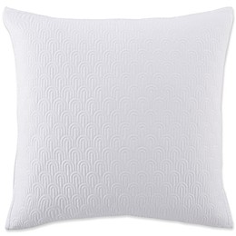 Ted Baker London Quilted Scallop European Pillow Sham in White