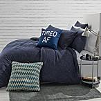 Jersey Space-Dyed Full/Queen Comforter Set in Navy