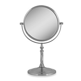 Zadro™ Dual-Sided Swivel Vanity Mirror in Satin Nickel