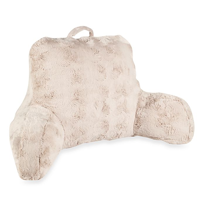 Alternate image 1 for Crystal Faux Fur Backrest in Taupe