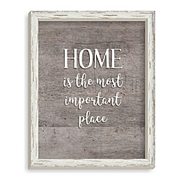 Home Most Important 11-Inch x 14-Inch Framed Wood Wall Art