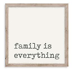 """""""Family is Everything"""" 10-Inch Square Framed Wall Art"""