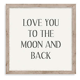 """""""Love You to the Moon"""" 10-Inch Square Framed Wall Art"""