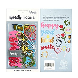 New View Kindness Letter Icon Pack
