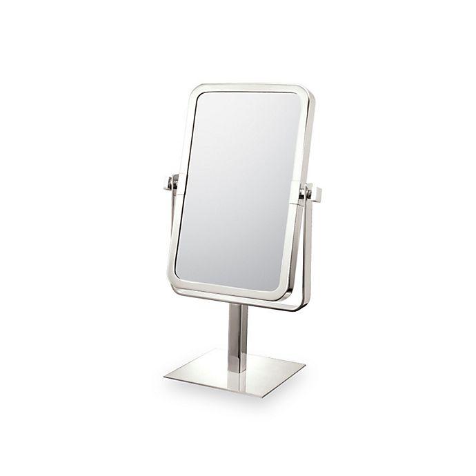 Mirror image rectangular 3x 1x vanity mirror with brushed - Bathroom vanity mirrors brushed nickel ...