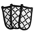 Design Imports Lattice Pan Handle Covers in Black (Set of 3)